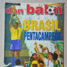 Coleccionismo deportivo: DON BALÓN Nº 1394 - AÑO 2002. POSTER BRASIL CAMPEON. Lote 257439295
