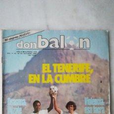 Coleccionismo deportivo: DON BALÓN, N°418, EL TENERIFE EN LA CUMBRE, MARIANI, METHOD. 1983. Lote 257508565