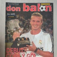 Coleccionismo deportivo: DON BALÓN Nº 1455 - AÑO 2003. POSTER REAL MADRID CAMPEÓN SUPERCOPA. Lote 257621060