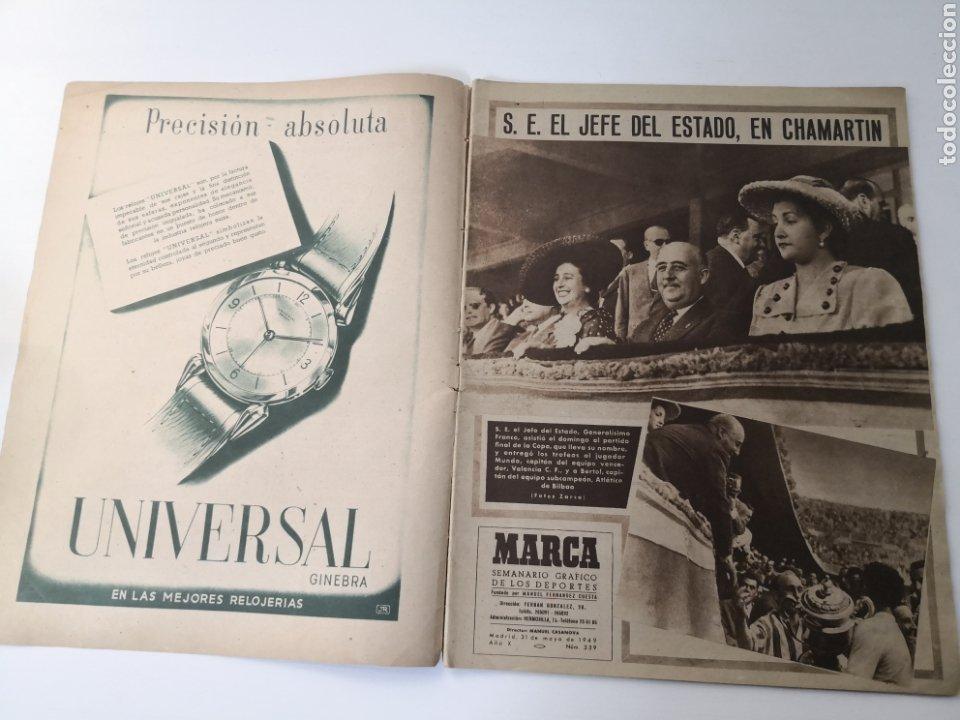 Coleccionismo deportivo: 1949 - DIARIO MARCA, SEMANARIO GRÁFICO DEPORTES N° 339. VALENCIA CAMPEÓN DE COPA - Foto 2 - 257780975