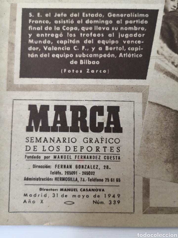 Coleccionismo deportivo: 1949 - DIARIO MARCA, SEMANARIO GRÁFICO DEPORTES N° 339. VALENCIA CAMPEÓN DE COPA - Foto 3 - 257780975
