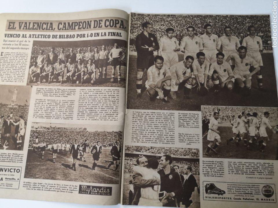Coleccionismo deportivo: 1949 - DIARIO MARCA, SEMANARIO GRÁFICO DEPORTES N° 339. VALENCIA CAMPEÓN DE COPA - Foto 4 - 257780975