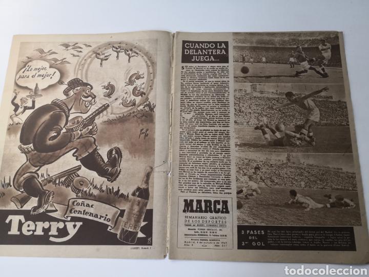 Coleccionismo deportivo: 1949 - DIARIO MARCA, SEMANARIO GRÁFICO DEPORTES N°357. EXHIBICIÓN REAL MADRID. RAYO VALLECANO. CELTA - Foto 2 - 257782645
