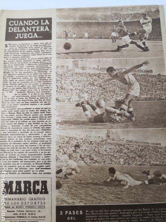 Coleccionismo deportivo: 1949 - DIARIO MARCA, SEMANARIO GRÁFICO DEPORTES N°357. EXHIBICIÓN REAL MADRID. RAYO VALLECANO. CELTA - Foto 4 - 257782645