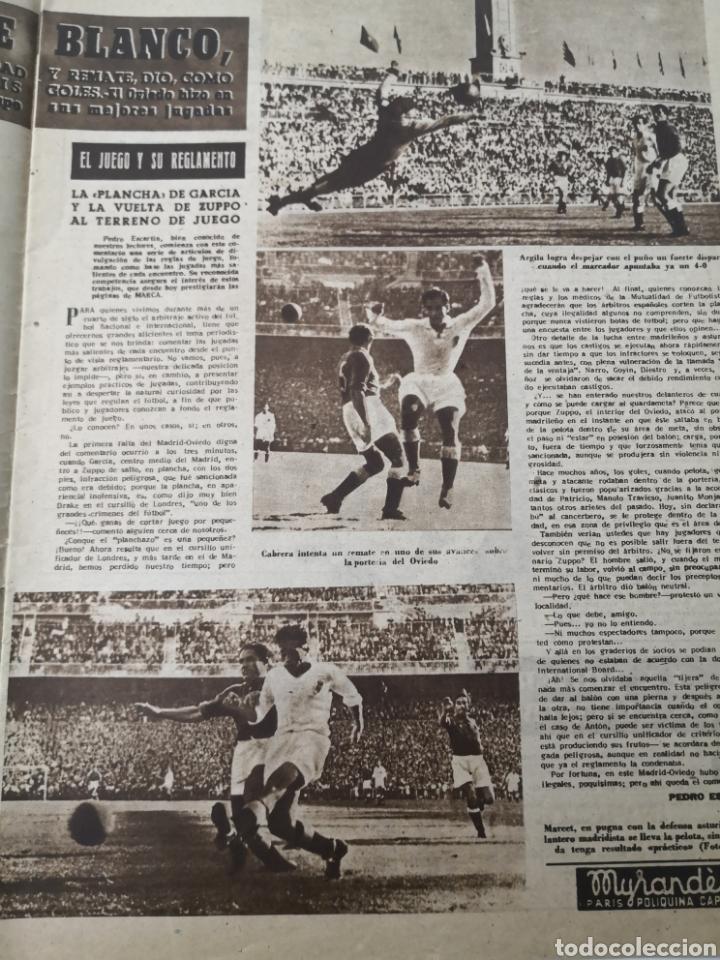 Coleccionismo deportivo: 1949 - DIARIO MARCA, SEMANARIO GRÁFICO DEPORTES N°357. EXHIBICIÓN REAL MADRID. RAYO VALLECANO. CELTA - Foto 5 - 257782645