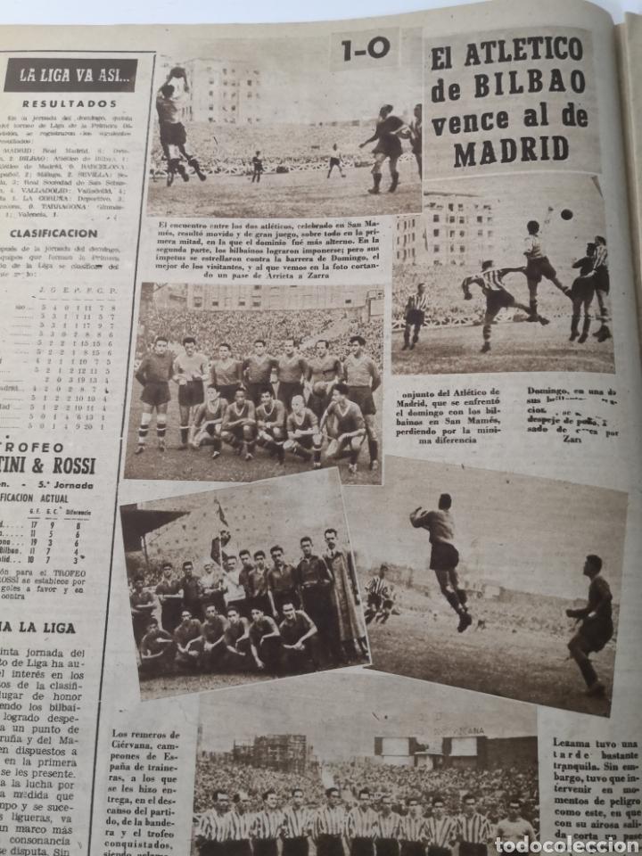Coleccionismo deportivo: 1949 - DIARIO MARCA, SEMANARIO GRÁFICO DEPORTES N°357. EXHIBICIÓN REAL MADRID. RAYO VALLECANO. CELTA - Foto 6 - 257782645