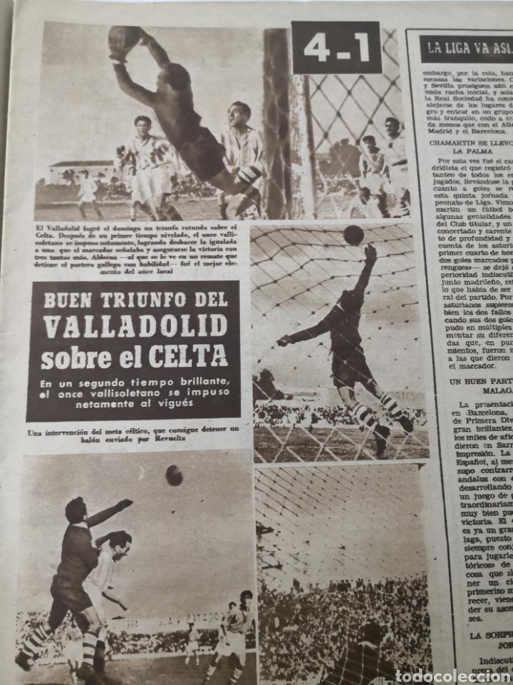 Coleccionismo deportivo: 1949 - DIARIO MARCA, SEMANARIO GRÁFICO DEPORTES N°357. EXHIBICIÓN REAL MADRID. RAYO VALLECANO. CELTA - Foto 7 - 257782645