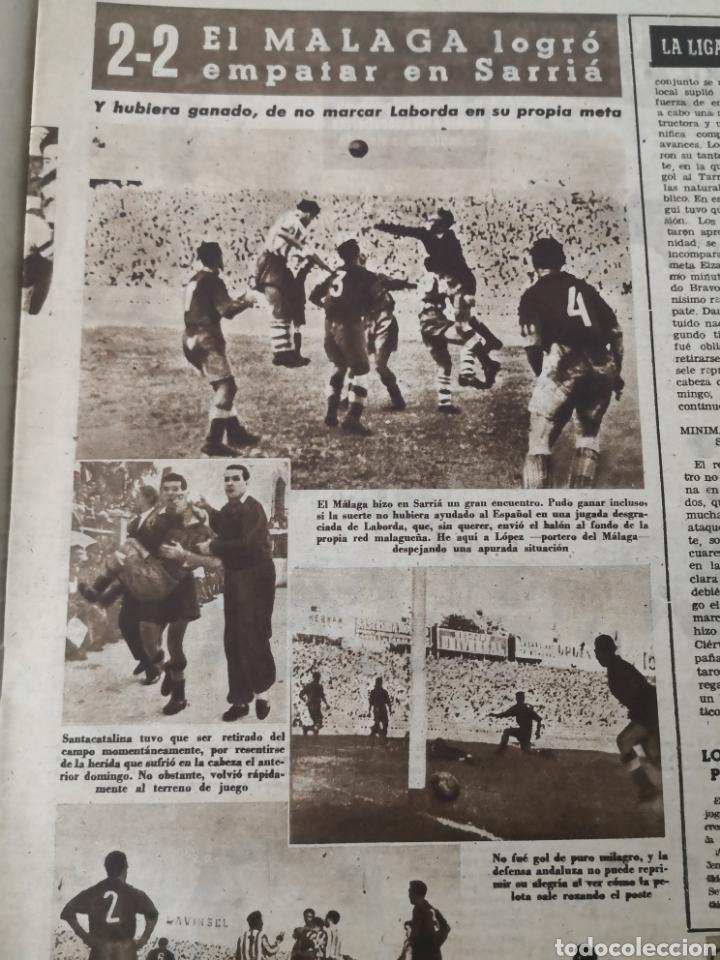 Coleccionismo deportivo: 1949 - DIARIO MARCA, SEMANARIO GRÁFICO DEPORTES N°357. EXHIBICIÓN REAL MADRID. RAYO VALLECANO. CELTA - Foto 9 - 257782645
