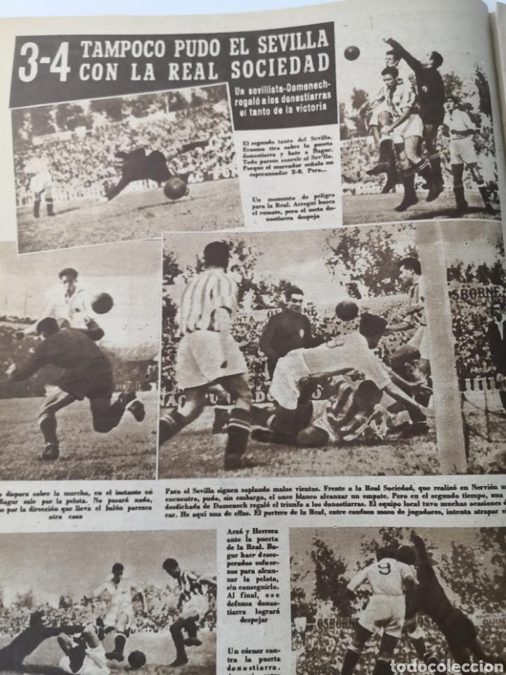 Coleccionismo deportivo: 1949 - DIARIO MARCA, SEMANARIO GRÁFICO DEPORTES N°357. EXHIBICIÓN REAL MADRID. RAYO VALLECANO. CELTA - Foto 10 - 257782645