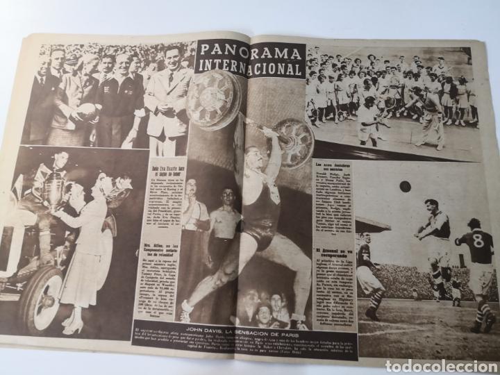 Coleccionismo deportivo: 1949 - DIARIO MARCA, SEMANARIO GRÁFICO DEPORTES N°357. EXHIBICIÓN REAL MADRID. RAYO VALLECANO. CELTA - Foto 11 - 257782645