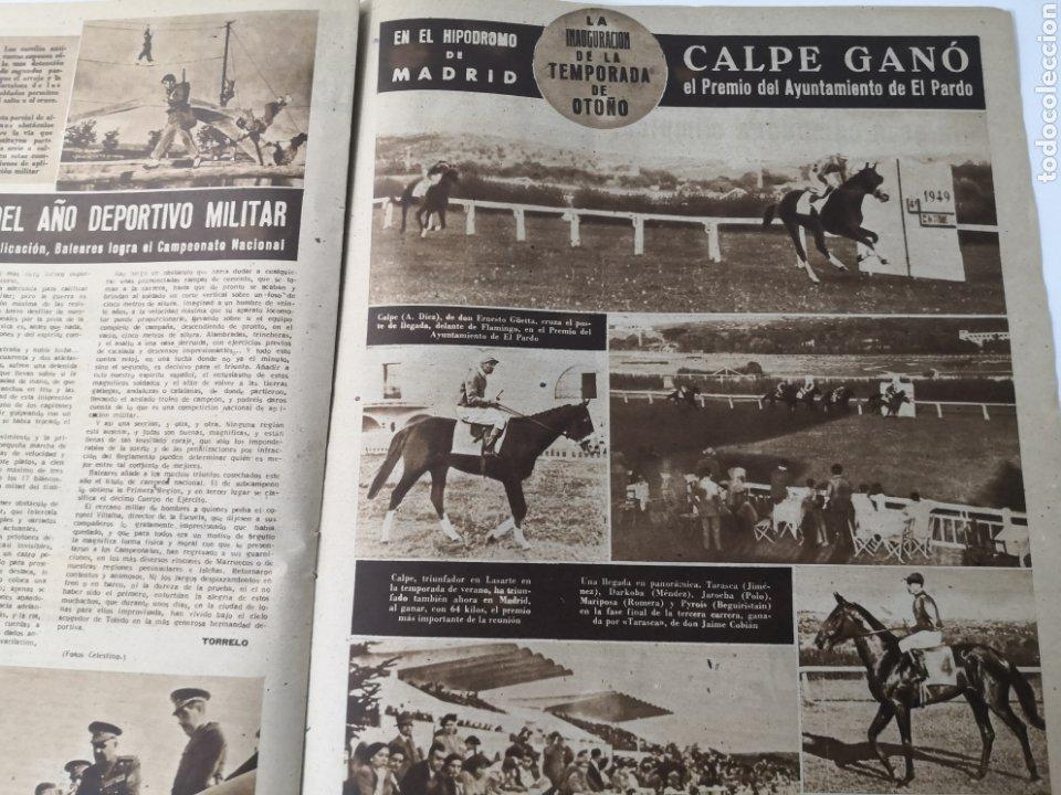 Coleccionismo deportivo: 1949 - DIARIO MARCA, SEMANARIO GRÁFICO DEPORTES N°357. EXHIBICIÓN REAL MADRID. RAYO VALLECANO. CELTA - Foto 12 - 257782645