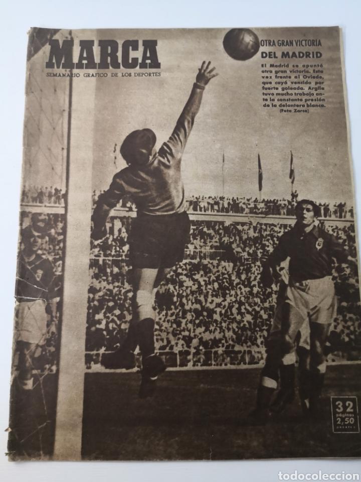 1949 - DIARIO MARCA, SEMANARIO GRÁFICO DEPORTES N°357. EXHIBICIÓN REAL MADRID. RAYO VALLECANO. CELTA (Coleccionismo Deportivo - Revistas y Periódicos - Marca)