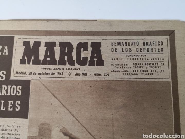 Coleccionismo deportivo: 1947 - DIARIO MARCA, SEMANARIO GRÁFICO DEPORTES N° 256. ATLÉTICO DE MADRID. ZARRA - Foto 2 - 257784050
