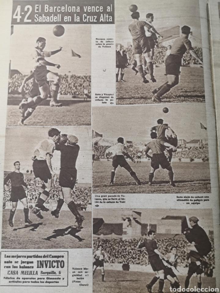 Coleccionismo deportivo: 1947 - DIARIO MARCA, SEMANARIO GRÁFICO DEPORTES N° 256. ATLÉTICO DE MADRID. ZARRA - Foto 3 - 257784050