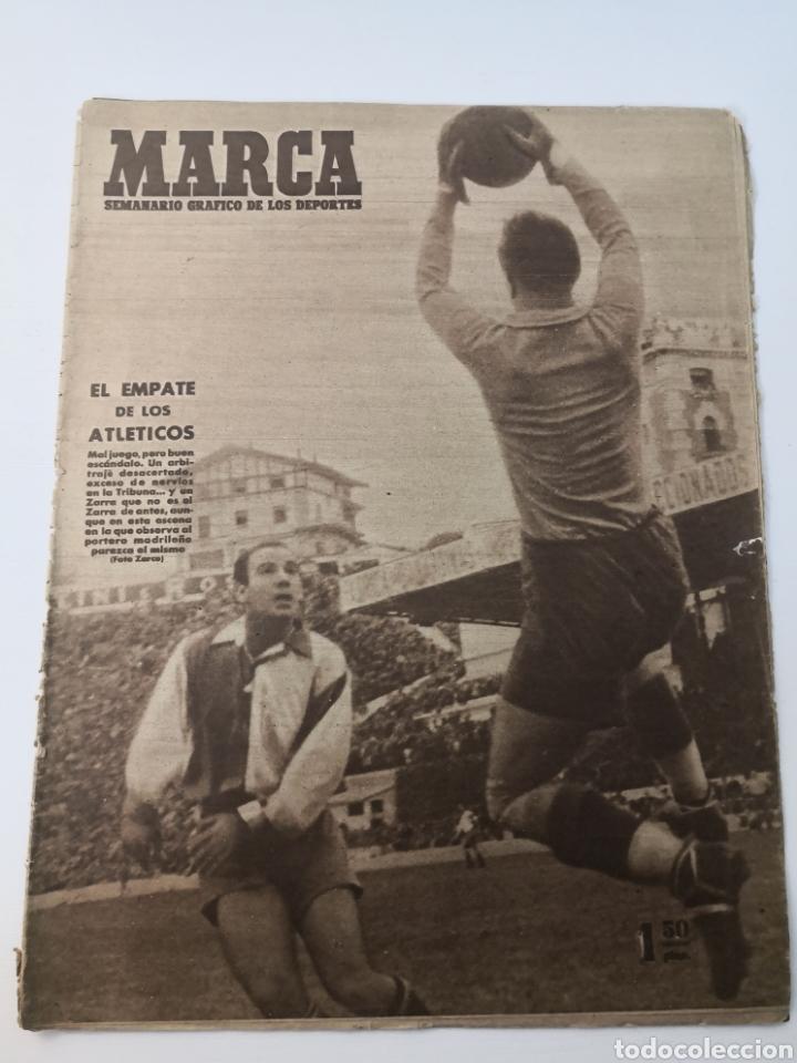 1947 - DIARIO MARCA, SEMANARIO GRÁFICO DEPORTES N° 256. ATLÉTICO DE MADRID. ZARRA (Coleccionismo Deportivo - Revistas y Periódicos - Marca)