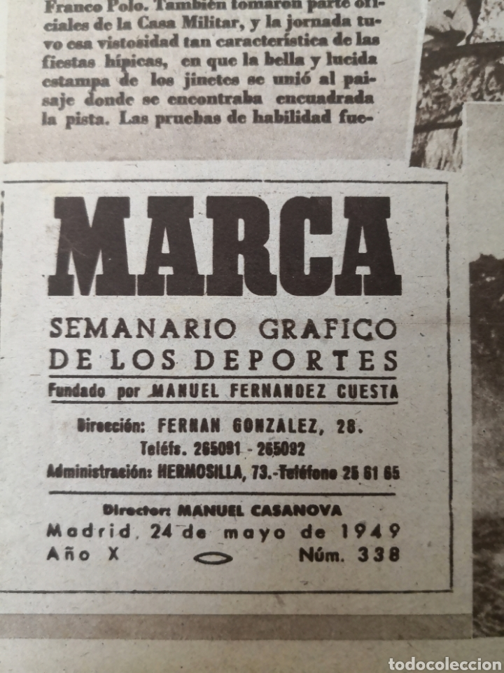 Coleccionismo deportivo: 1949 - DIARIO MARCA, SEMANARIO GRÁFICO DEPORTES N° 338. REAL MADRID. CAMPO TIRO CHAMARTIN. KUTZ - Foto 2 - 257785130