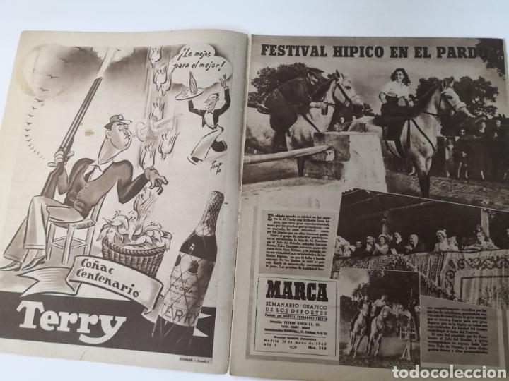 Coleccionismo deportivo: 1949 - DIARIO MARCA, SEMANARIO GRÁFICO DEPORTES N° 338. REAL MADRID. CAMPO TIRO CHAMARTIN. KUTZ - Foto 3 - 257785130