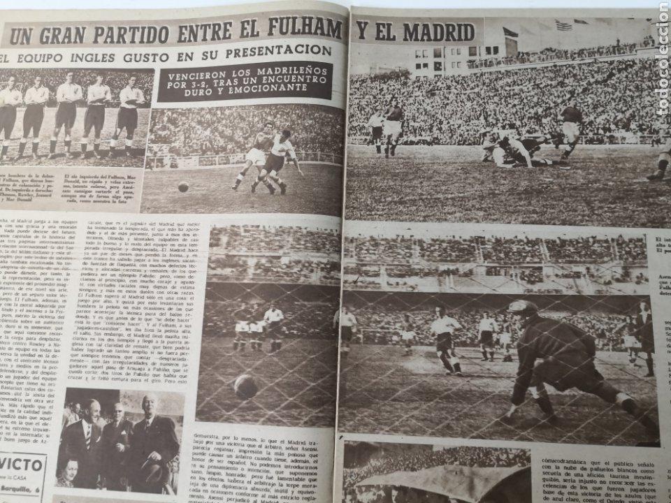 Coleccionismo deportivo: 1949 - DIARIO MARCA, SEMANARIO GRÁFICO DEPORTES N° 338. REAL MADRID. CAMPO TIRO CHAMARTIN. KUTZ - Foto 4 - 257785130