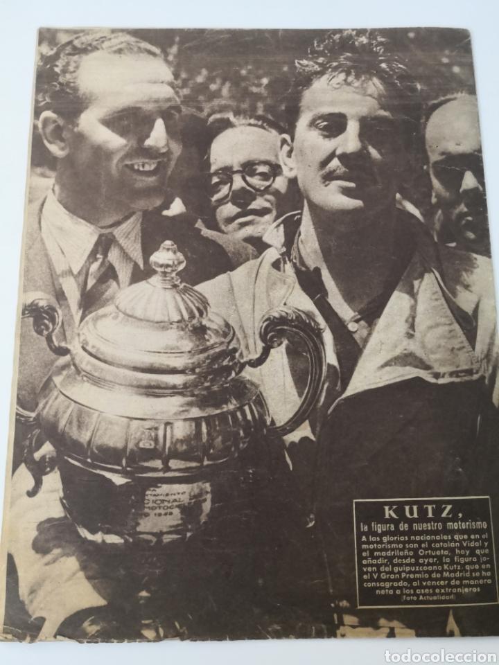 Coleccionismo deportivo: 1949 - DIARIO MARCA, SEMANARIO GRÁFICO DEPORTES N° 338. REAL MADRID. CAMPO TIRO CHAMARTIN. KUTZ - Foto 10 - 257785130