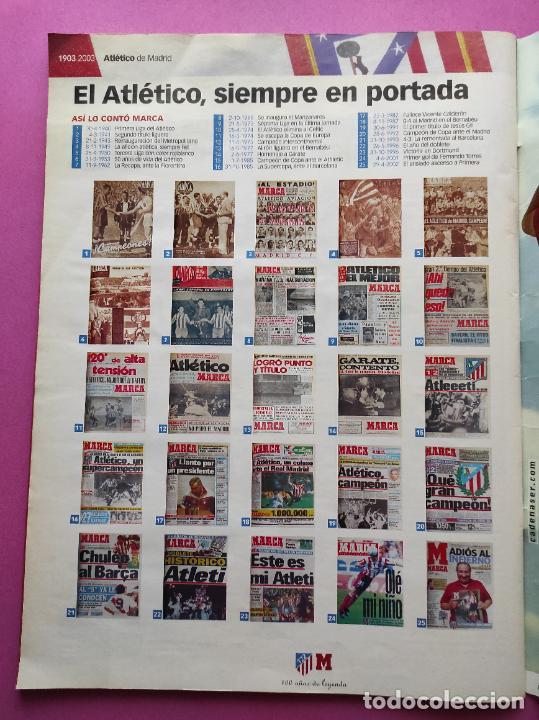 Coleccionismo deportivo: CENTENARIO ATLETICO DE MADRID - CIEN AÑOS DE ATLETI 1903-2003 REVISTA ESPECIAL DIARIO MARCA EXTRA - Foto 6 - 257940510
