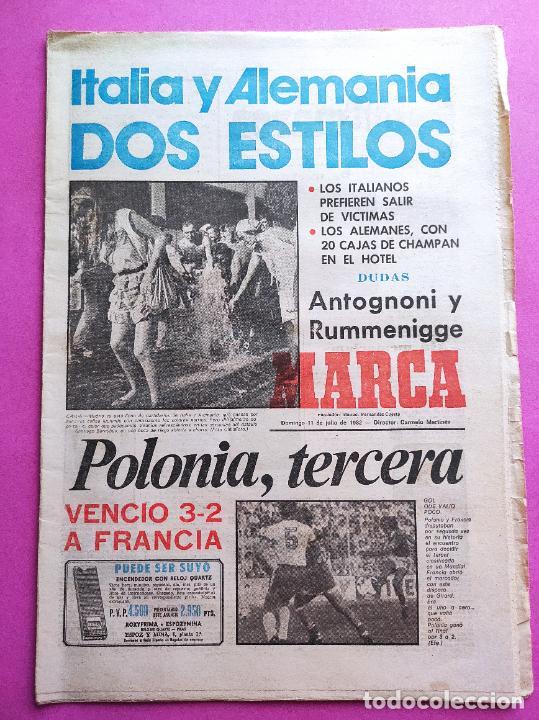 DIARIO MARCA PREVIO FINAL MUNDIAL ESPAÑA 82 - ITALY-GERMANY - POLAND THIRD FIFA WORLD CUP 1982 WC (Coleccionismo Deportivo - Revistas y Periódicos - Marca)
