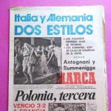 Coleccionismo deportivo: DIARIO MARCA PREVIO FINAL MUNDIAL ESPAÑA 82 - ITALY-GERMANY - POLAND THIRD FIFA WORLD CUP 1982 WC. Lote 257943150