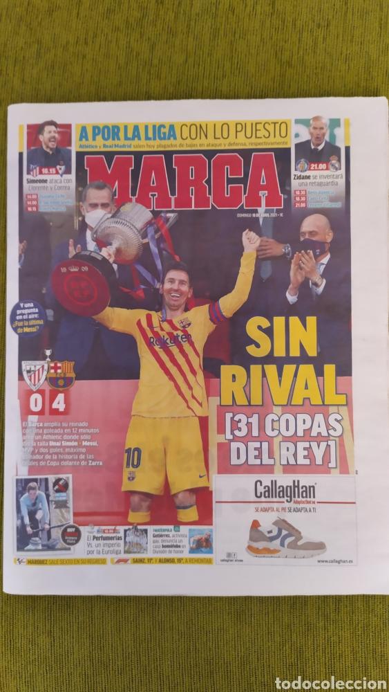 FC BARCELONA CAMPEÓN DE LA COPA DEL REY 2020/21. DIARIO MARCA ATHLETIC 0 BARÇA 4 (Coleccionismo Deportivo - Revistas y Periódicos - Marca)