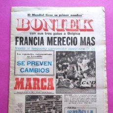 Coleccionismo deportivo: DIARIO MARCA MUNDIAL ESPAÑA 82 BONIEK POLAND HAT TRICK FRANCE FIFA WORLD CUP 1982 WC. Lote 259058460