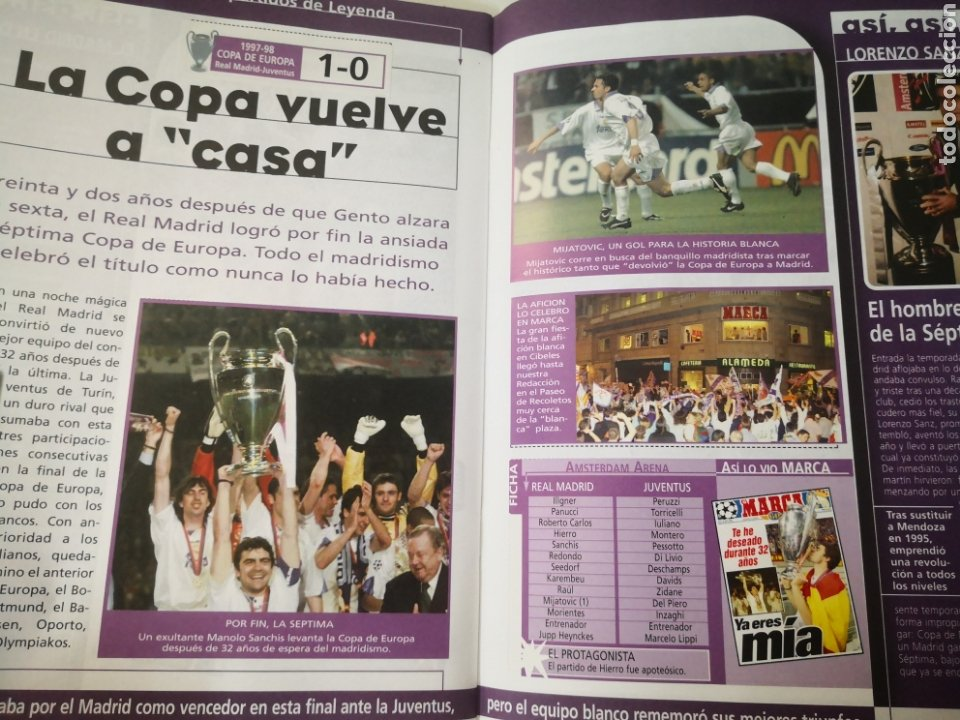 Coleccionismo deportivo: REAL MADRID - LOS 20 PARTIDOS DE LEYENDA BLANCA. EL MEJOR EQUIPO DEL MUNDO. DIARIO MARCA - Foto 4 - 259210330
