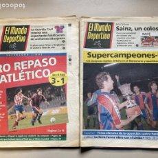 Colecionismo desportivo: BARÇA- CAMPEÓN SUPERCOPA 1992 - 2 PERIÓDICOS- MUNDO DEPORTIVO -. Lote 259243695