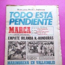 Collectionnisme sportif: DIARIO MARCA MUNDIAL ESPAÑA 82 NORTH IRELAND 1-1 HONDURAS FRANCE 4-1 KUWAIT FIFA WORLD CUP 1982 WC. Lote 259748270