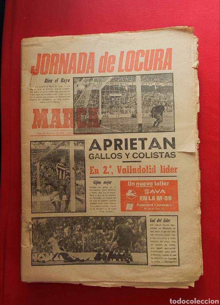 LOTE DE PERIODICOS ANTIGUOS DE LA MARCA AÑOS 1979 (Coleccionismo Deportivo - Revistas y Periódicos - Marca)