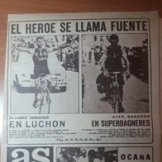 Coleccionismo deportivo: PERIÓDICO AS. 14 JULIO 1971. CAÍDA DE OCAÑA EN EL TOUR. PERIÓDICO COMPLETO. Lote 260448230