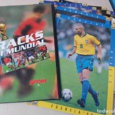 Colecionismo desportivo: CRACKS DEL MUNDIAL FRANCIA 98 CON 25 LAMINAS. Lote 260497575