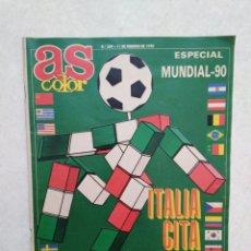 Coleccionismo deportivo: AS COLOR, ESPECIAL MUNDIAL 90 ( NÚMERO 209-11 FEBRERO 1990 ) ITALIA CITA DE ASES. Lote 260600720