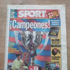 Coleccionismo deportivo: DIARIO SPORT 9548 4 DE MAYO 2006 F.C.BARCELONA CAMPEON LIGA 05 06, RONALDINHO ETO'O MESSI RIJKAARD. Lote 260647320