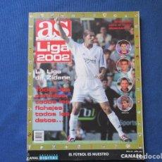 Coleccionismo deportivo: AS LIGA 2002 - LA GUÍA MÁS COMPLETA - AGOSTO 2001 - LA LIGA DE ZIDANE. Lote 261173785