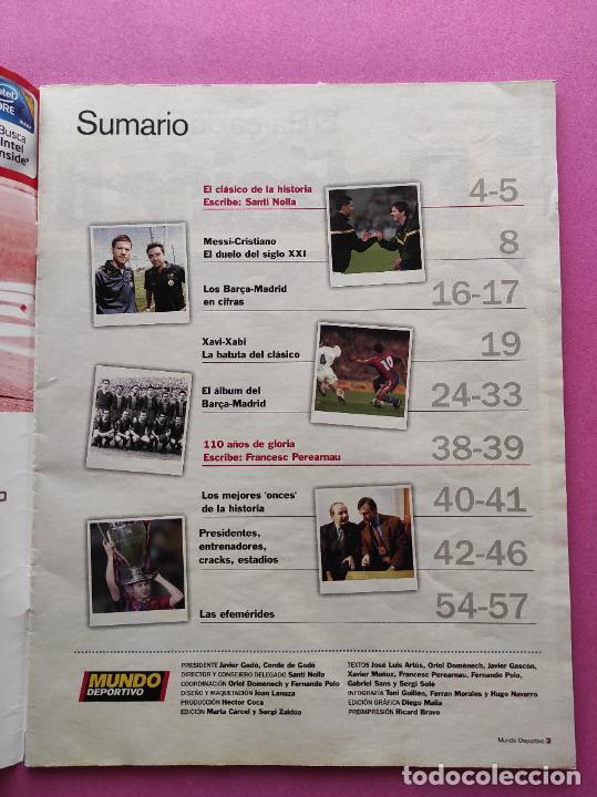 Coleccionismo deportivo: REVISTA SUPLEMENTO MUNDO DEPORTIVO 2009 ESPECIAL EL CLASICO BARÇA-REAL MADRID 09/10 PARTIDO SIGLO - Foto 2 - 261174515