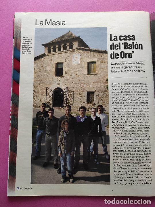 Coleccionismo deportivo: REVISTA SUPLEMENTO MUNDO DEPORTIVO 2009 ESPECIAL EL CLASICO BARÇA-REAL MADRID 09/10 PARTIDO SIGLO - Foto 8 - 261174515
