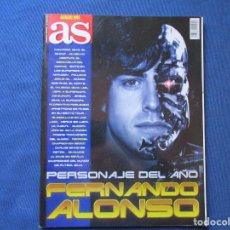 Coleccionismo deportivo: AS ANUARIO 2005 FERNANDO ALONSO PERSONAJE DEL AÑO - ENERO 2005. Lote 261182560