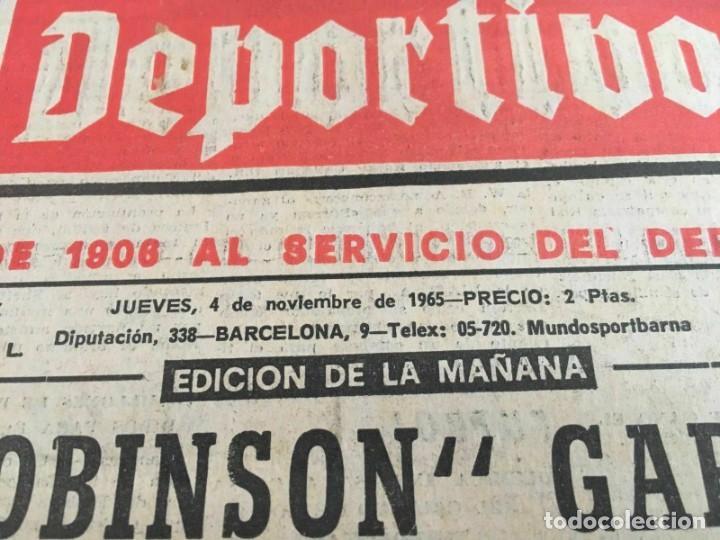 Coleccionismo deportivo: PERIODICO MUNDO DEPORTIVO (4-11-1965) Inter-Cities Fairs Cup 1965 1966 Valencia Hibernian Football - Foto 3 - 261198095