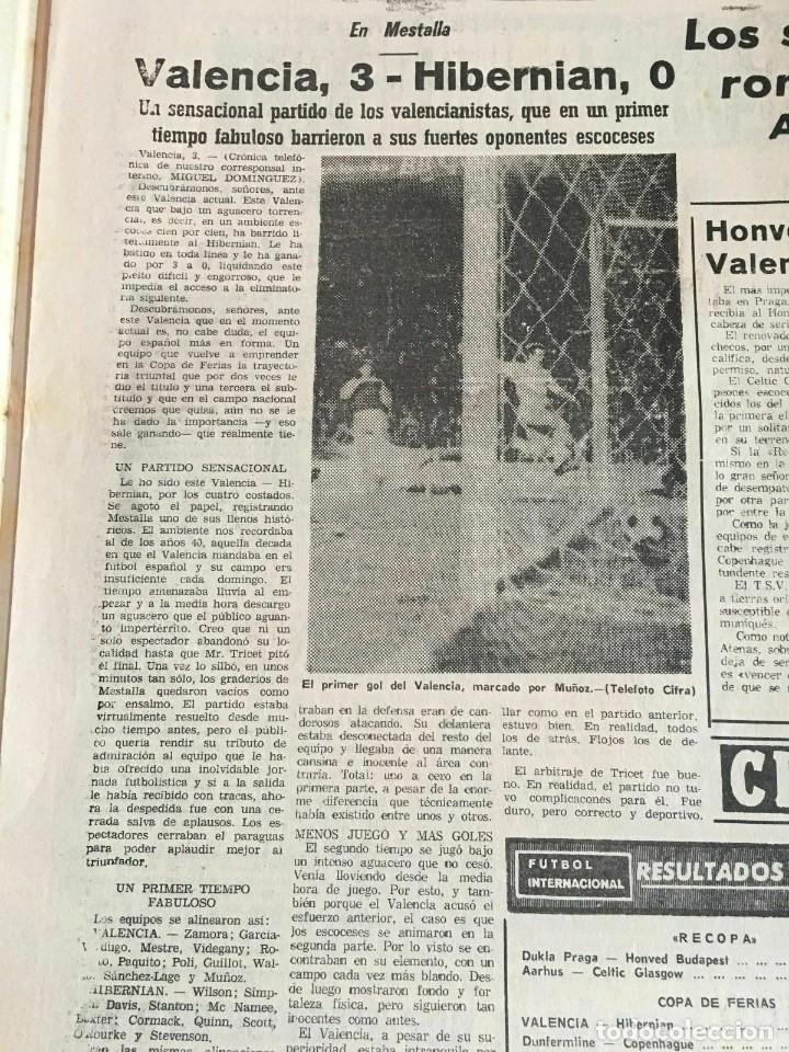 Coleccionismo deportivo: PERIODICO MUNDO DEPORTIVO (4-11-1965) Inter-Cities Fairs Cup 1965 1966 Valencia Hibernian Football - Foto 4 - 261198095