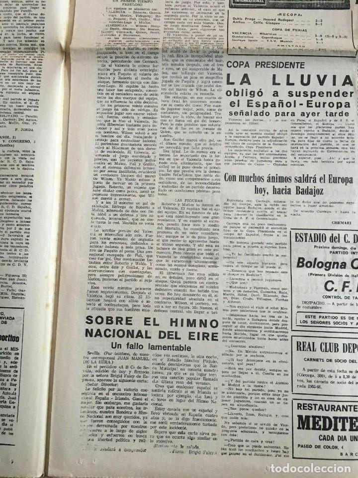 Coleccionismo deportivo: PERIODICO MUNDO DEPORTIVO (4-11-1965) Inter-Cities Fairs Cup 1965 1966 Valencia Hibernian Football - Foto 5 - 261198095