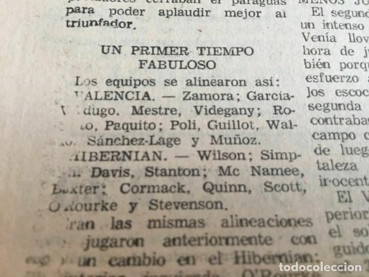 Coleccionismo deportivo: PERIODICO MUNDO DEPORTIVO (4-11-1965) Inter-Cities Fairs Cup 1965 1966 Valencia Hibernian Football - Foto 6 - 261198095