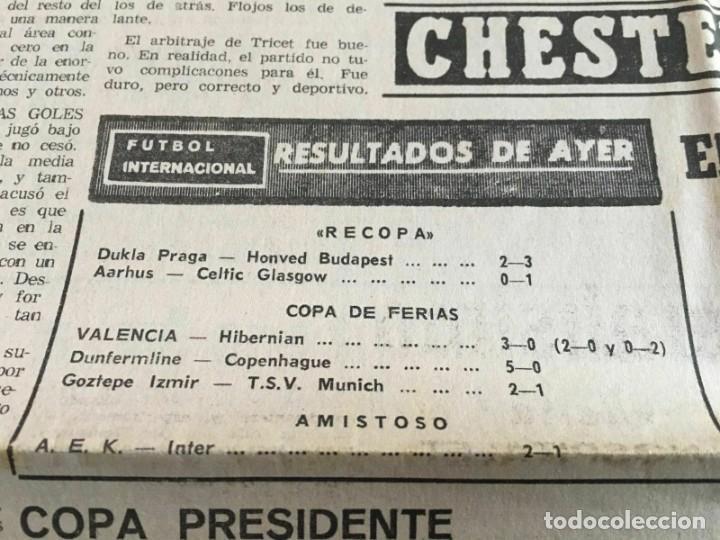 Coleccionismo deportivo: PERIODICO MUNDO DEPORTIVO (4-11-1965) Inter-Cities Fairs Cup 1965 1966 Valencia Hibernian Football - Foto 7 - 261198095