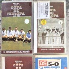 Coleccionismo deportivo: 4 VHS HISTORIA DE LA COPA DE EUROPA REAL MADRID | VHS Nº1 1956·1958, VHS Nº2 1960, VHS Nº3 1965·1966. Lote 261224130