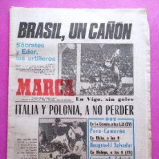 Coleccionismo deportivo: DIARIO MARCA MUNDIAL ESPAÑA 82 BRASIL-URSS - ITALY-POLAND FIFA WORLD CUP 1982 WC VALENCIA SELECCION. Lote 261326260