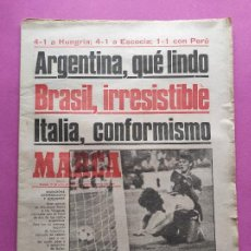 Coleccionismo deportivo: DIARIO MARCA MUNDIAL ESPAÑA 82 ARGENTINA MARADONA BRASIL ITALY FIFA WORLD CUP 1982 WC. Lote 261327110