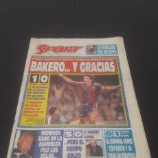 Coleccionismo deportivo: SPORT N° 5015. 25 DE OCTUBRE 1993.. Lote 261351530