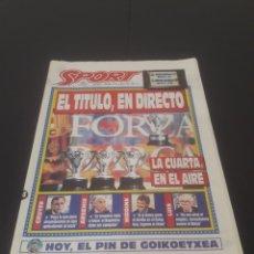 Coleccionismo deportivo: SPORT N° 5212. 14 DE MAYO 1994.. Lote 261357510